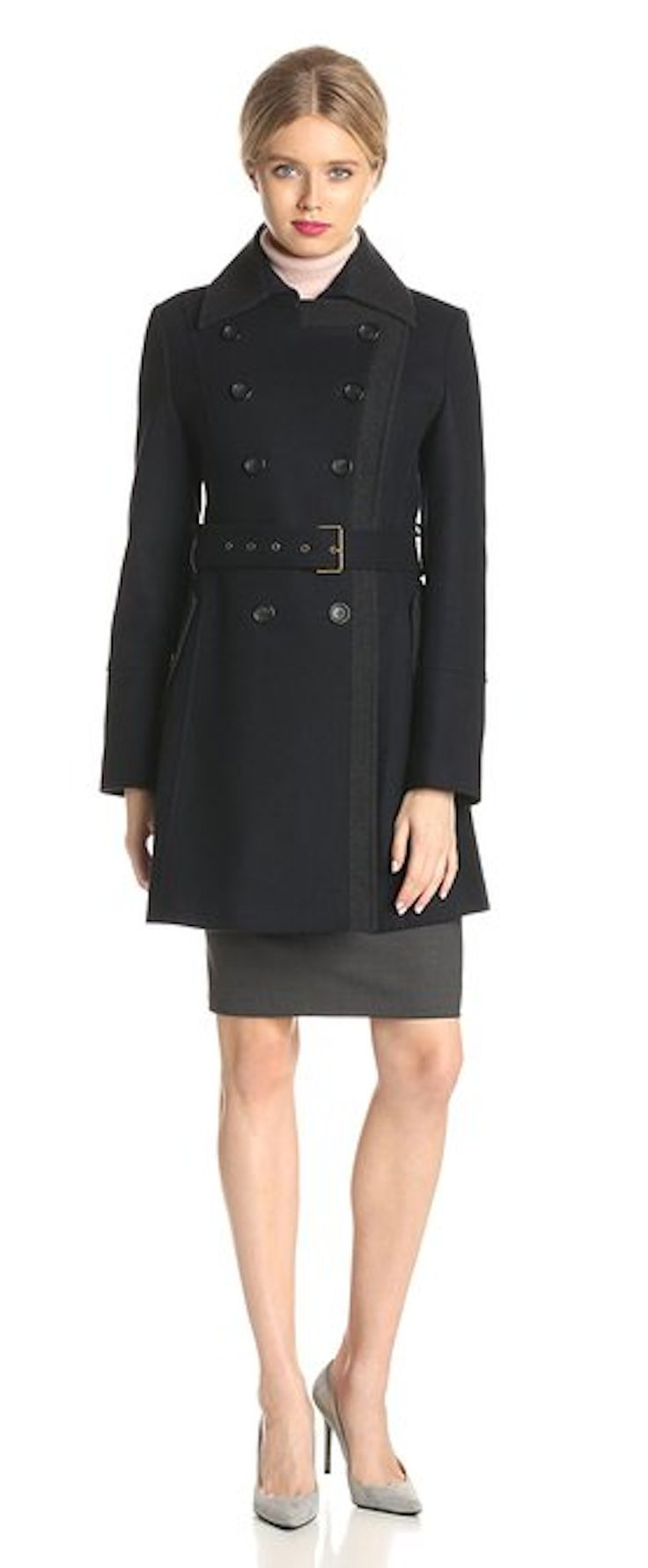 Tommy Hilfiger Women's Wool Double-Breasted Coat