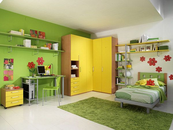 20 Vibrant and Lively Kids Bedroom Designs--A cute ... | home decor