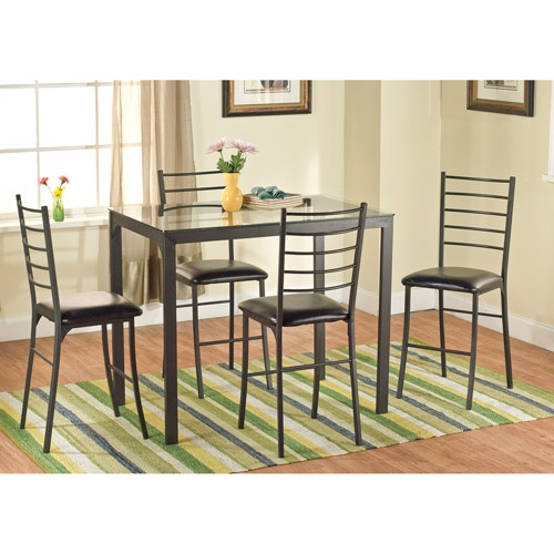 Counter Height Metal Table : Wal-Mart: Contemporary Metal Counter Height Table, Black; $105