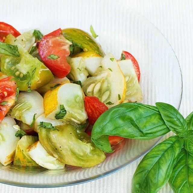 Heirloom Tomato - Lemon cucumber salad | Food, Glorious Food.... | Pi ...