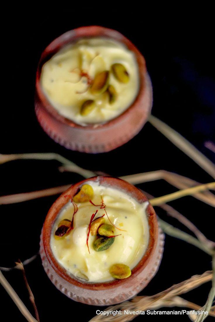 ... dish a day : Day 56 - Saffron & Cardamom Kulfi ice cream with almonds