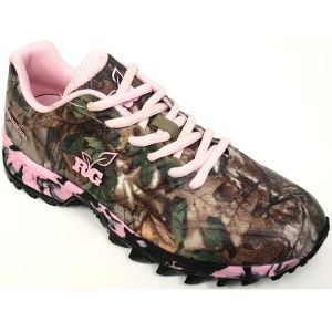 "Realtree Girl Xtra Green Camo and Pink ""Mamba"" Shoes"