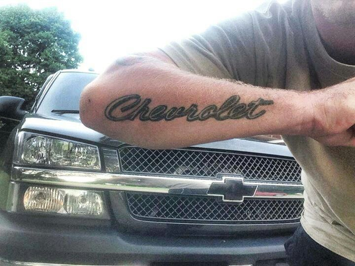 Chevrolet tattoos the image kid has it for Chevy bowtie tattoos