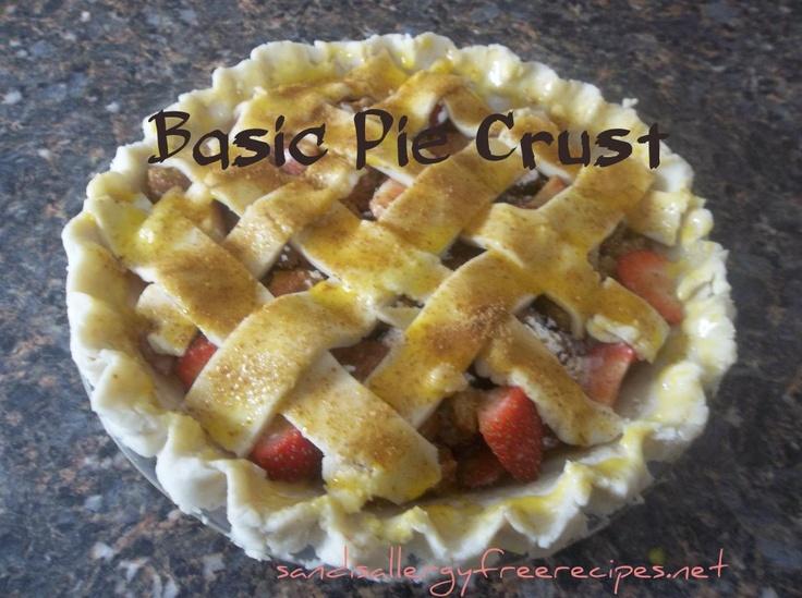 Basic Pie Crust | Allergy Friendly Desserts | Pinterest