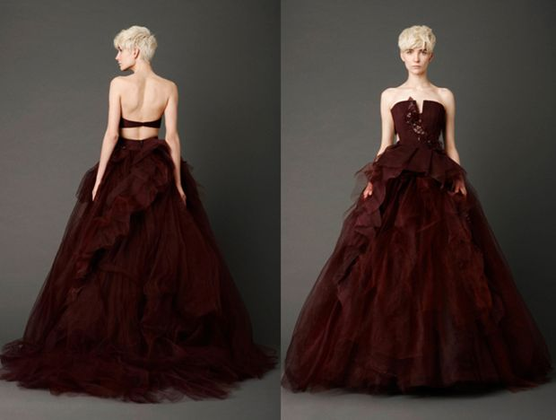 Vera Wang Red Wedding Dress 2013