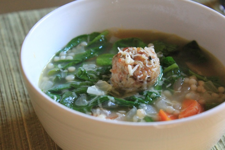 italian wedding soup chicken meatballs | food | Pinterest