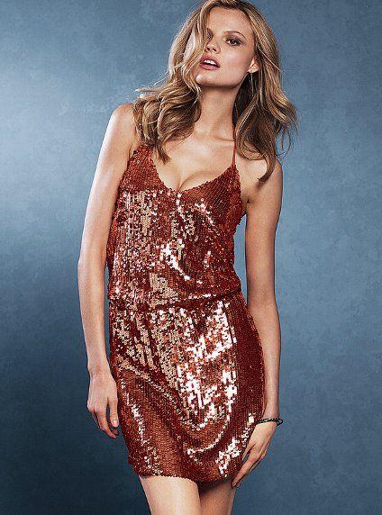 Sequin blouson dress victoria s secret holiday dresses pinterest