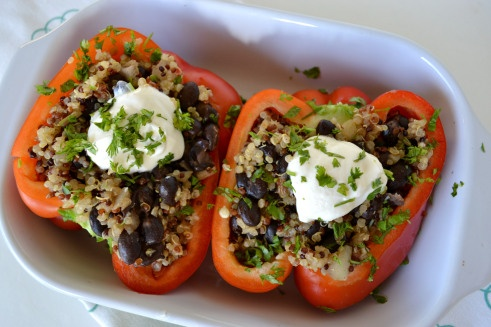 Stuffed Bell Pepper…so many options for stuffing! Rice, quinoa ...