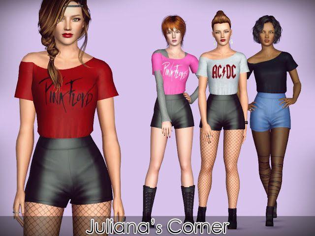 Juliana Sims: Groupie Outfit | Sims 3 Stuff | Pinterest