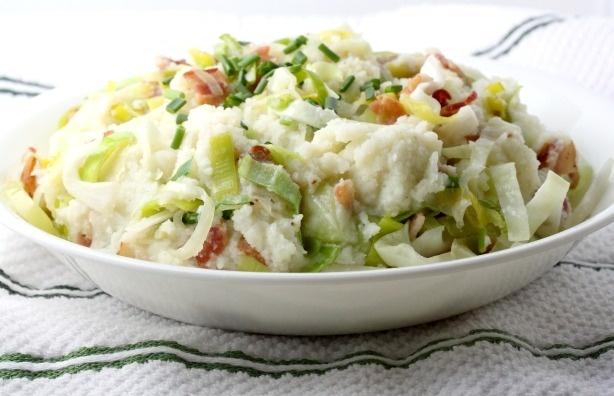 Cauliflower Colcannon. (Pureed cauliflower, sauteed cabbage, leeks and ...
