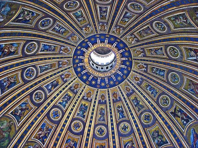 Cupola di San Pietro vista dall'interno