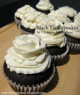 Black Tie Cupcakes - http://www.pindandy.com/pin/1937/