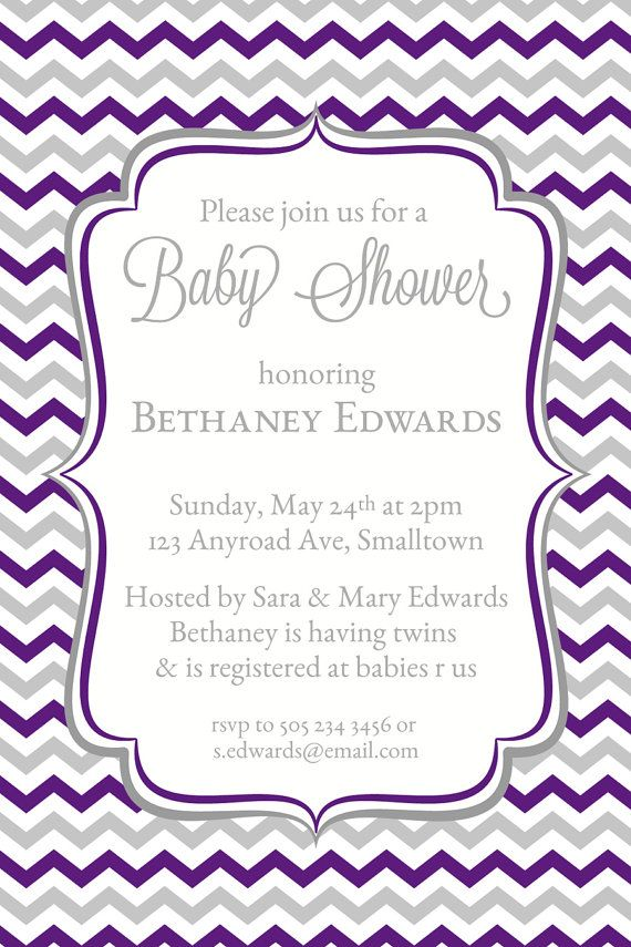 chevron invitations baby shower invites printable shower invitations