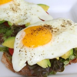 Open-face Egg Sandwich | Health and Fitness | Pinterest