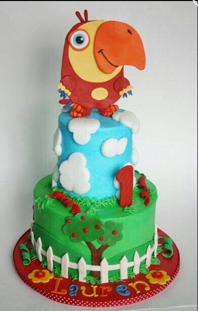 Baby first tv vocabularry cake boys birthday ideas for Baby tv birthday decoration