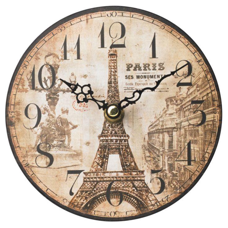 George Home Cream Paris Clock