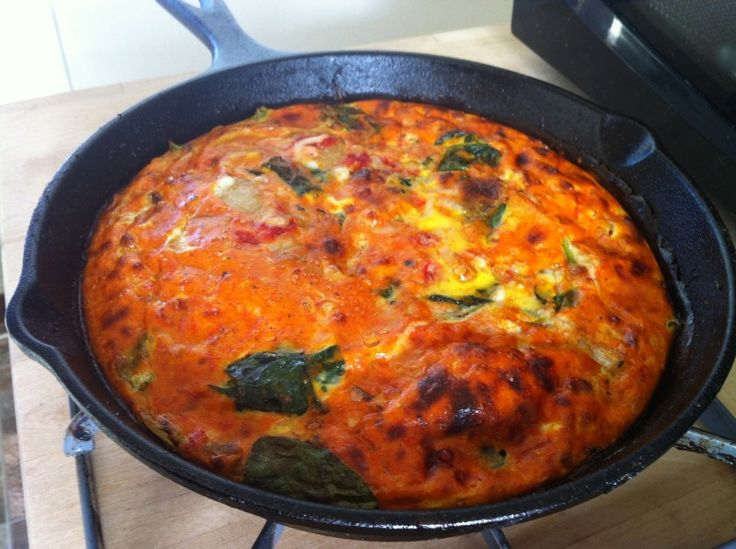 Mini Tomato Spinach Frittata...leave out cheese for dairy free