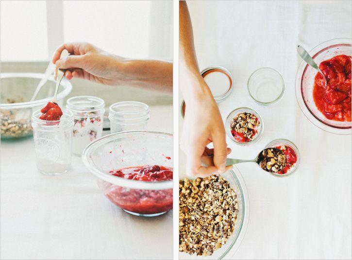 Yogurt, Strawberries + Cranachan Recipe — Dishmaps