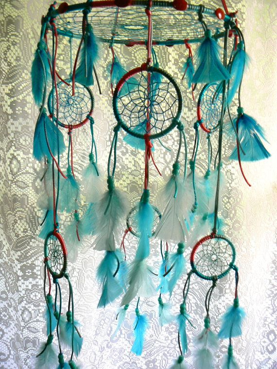 Dream Catcher Mobile by Winchestergems on Etsy, $77.00