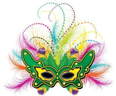 Mardi Gras feather mask vector art | Mardi Gras | Pinterest