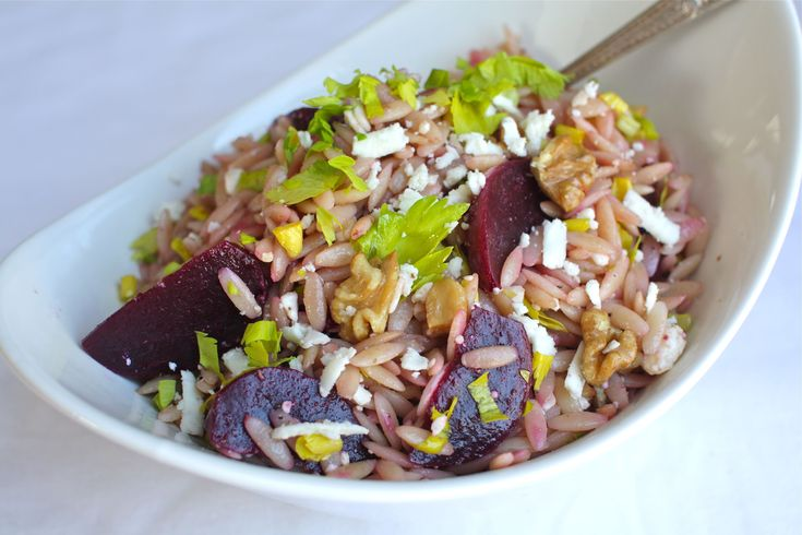 ... warm orzo salad with beets and warm orzo salad with beets and greens