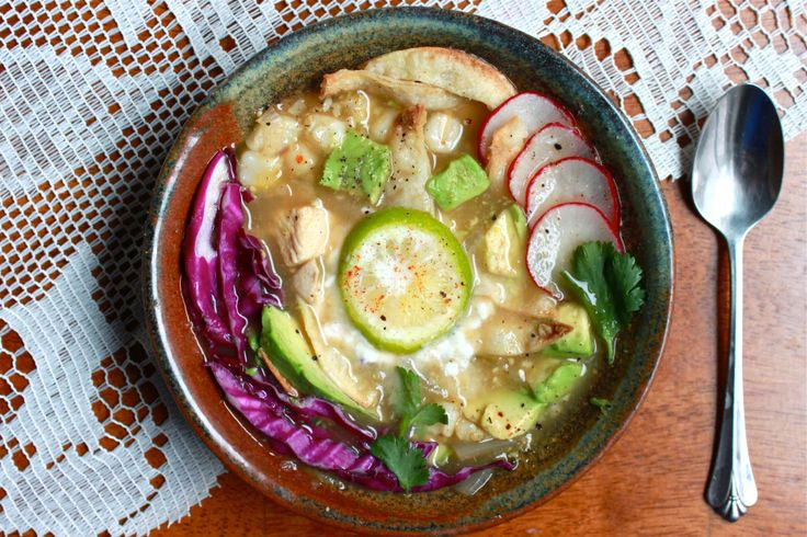 Tomatillo Chicken Pozole   Foodstuffs & Libations   Pinterest