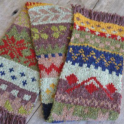 Free Baby Socks Knitting Pattern : beautiful double knitted scarf