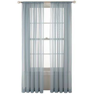 marthawindow voile rod pocket sheer panel jcpenney