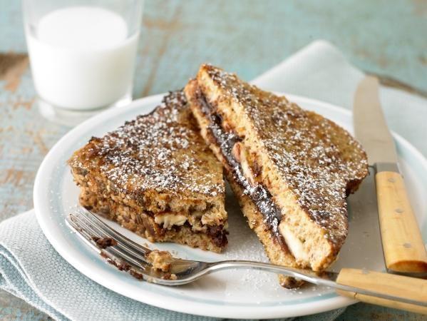 "Chocolate Banana Stuffed French Toast | ""Healthified"" Stuff | Pinte..."