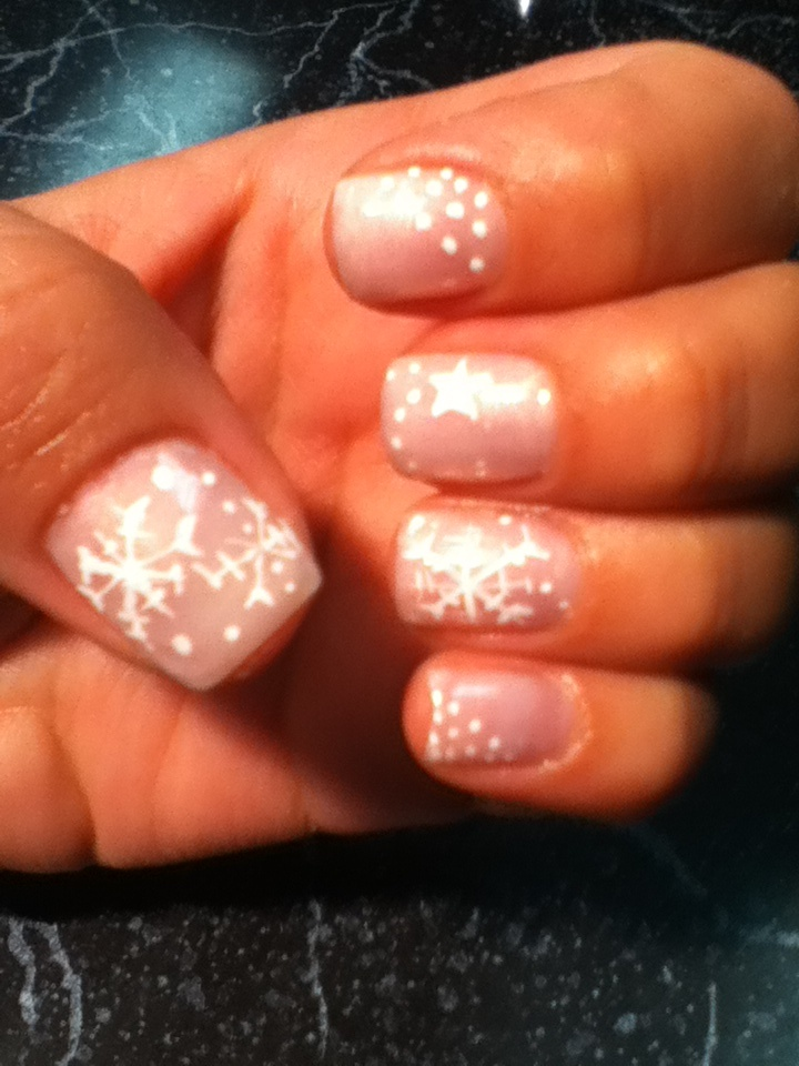 Shellac nails with design. | Nails | Pinterest