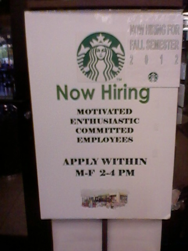 NOW HIRING: Starbucks on campus! | Local positions | Pinterest