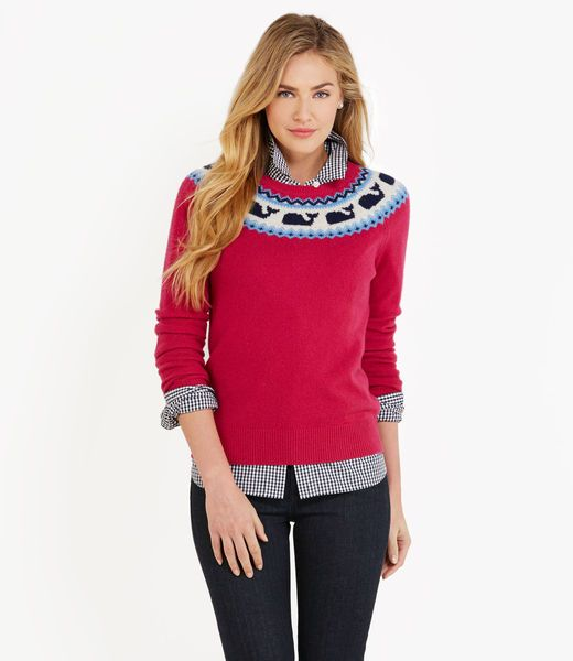 Whaleisle Yoke Sweater-also adorbs