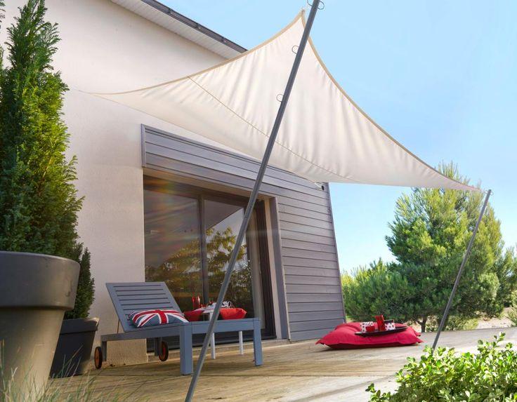 Voile d 39 ombrage mod le fidji - Toile d ombrage terrasse ...