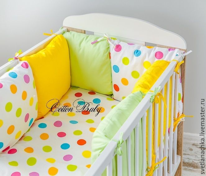 Бортики на детскую кроватку своими руками фото