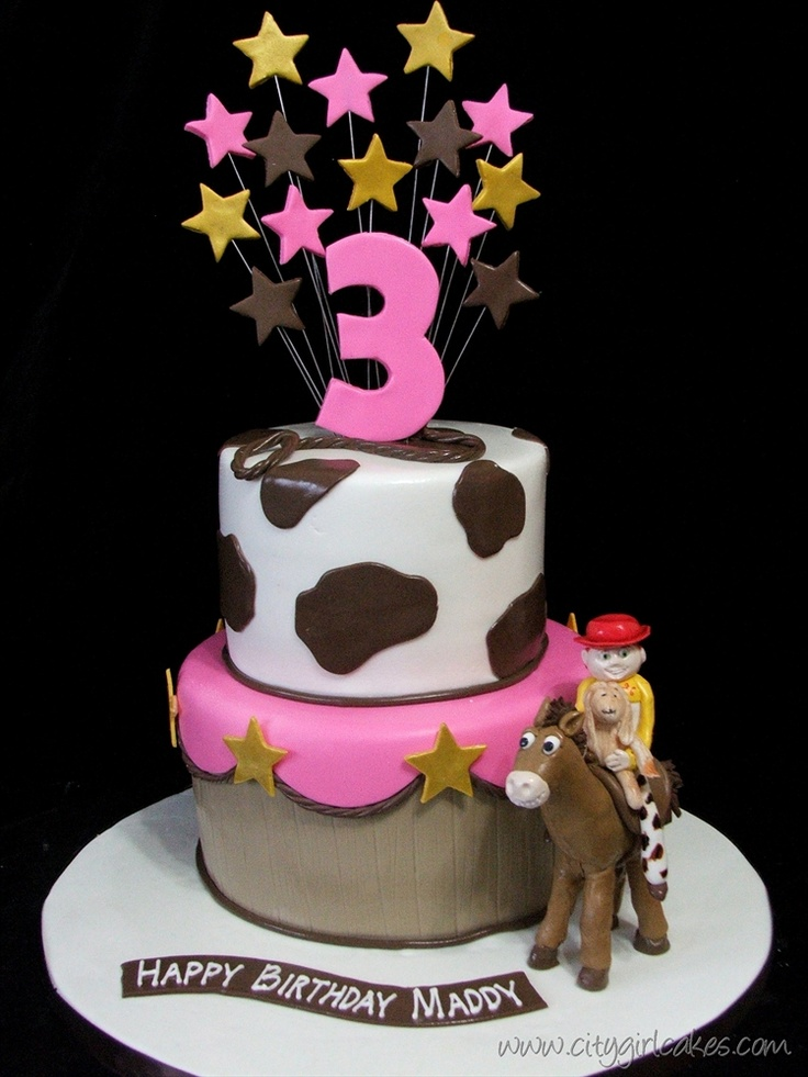 Toy Story Cake – Girl Style but IMO  people look weird lol!