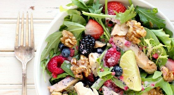 grilled chicken and fruit salad. | Stuff to eat | Pinterest