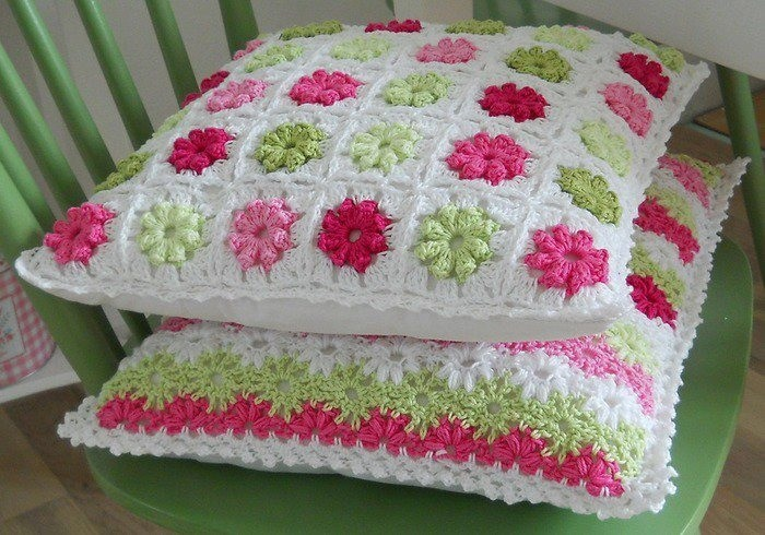 Cojines crochet mantas y cojines pinterest for Cojines a crochet