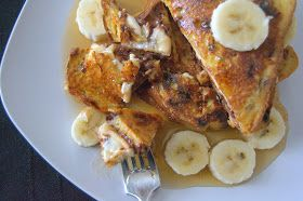 Banana nutella stuffed french toast | recipes im going to try | Pinte ...