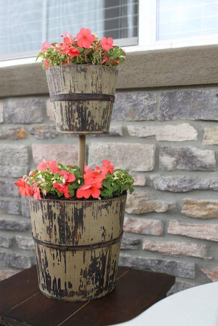 Diy Tiered Backyard : DIY 2Tier Planter  garden  Pinterest