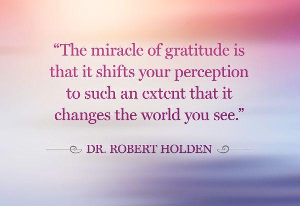 Gratitude....