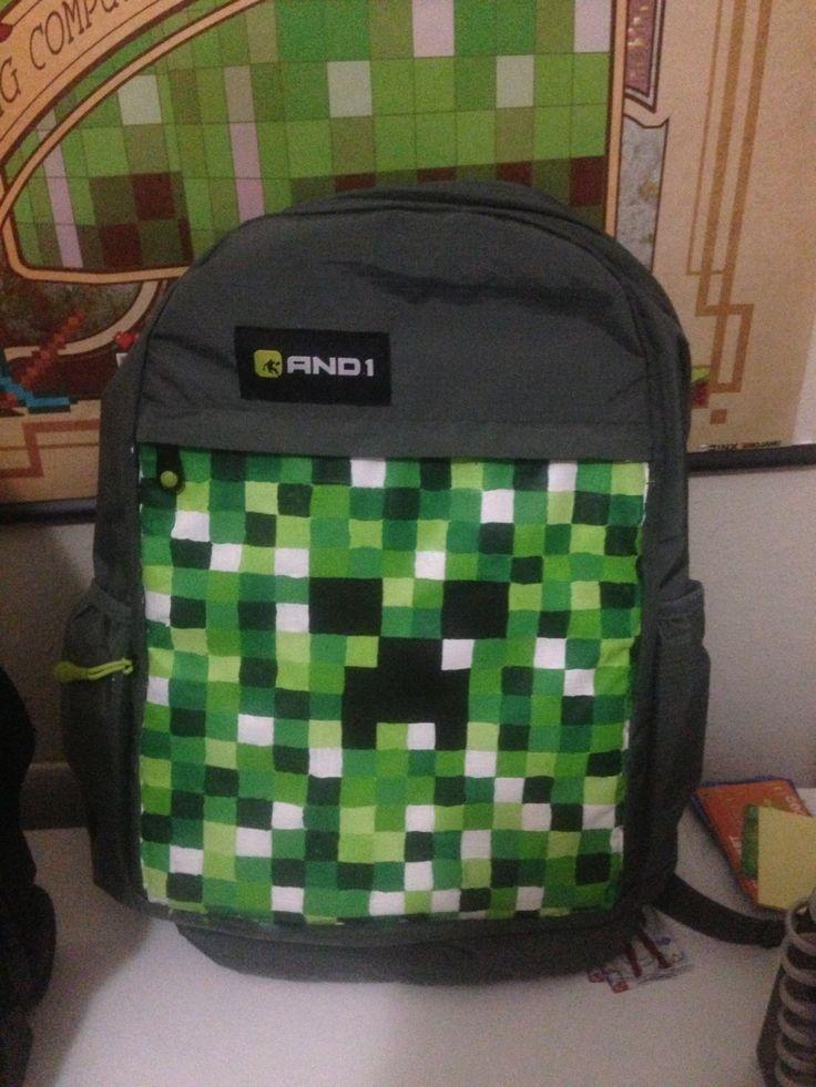 minecraft backpack crafty shit pinterest