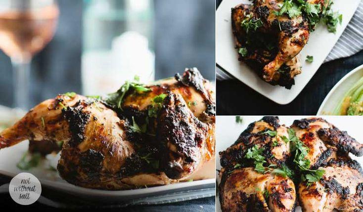 Yogurt and Spice Marinated Whole Grilled Chicken #finefoodinspiration
