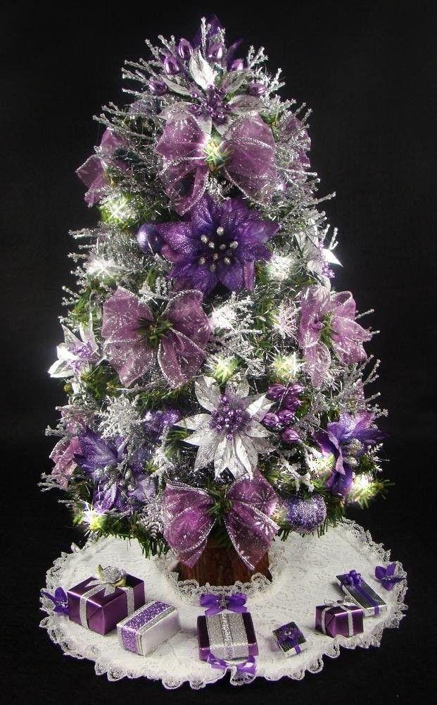 Purple christmas tree decorations myideasbedroom
