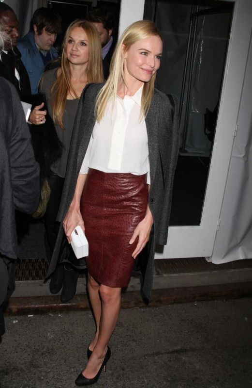 ostrich leather skirt