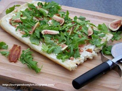 Bacon, Fig and Arugula Pizza | Recipe