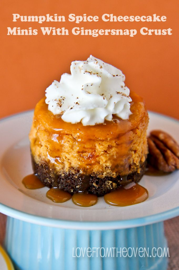 Pumpkin Spice Cheesecake Minis With Gingersnap Crust @Christi | Love ...