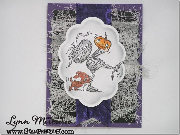 Mumeek - Adorable new Halloween Images from Stampendous, darling card by Lynn Mercurio