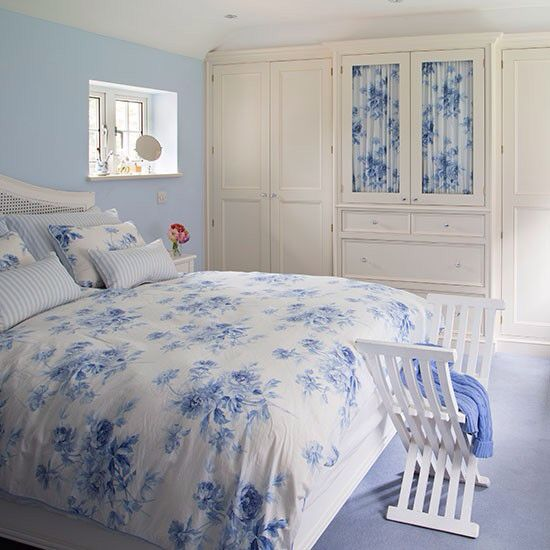 blue and cream bedroom make a house a home pinterest