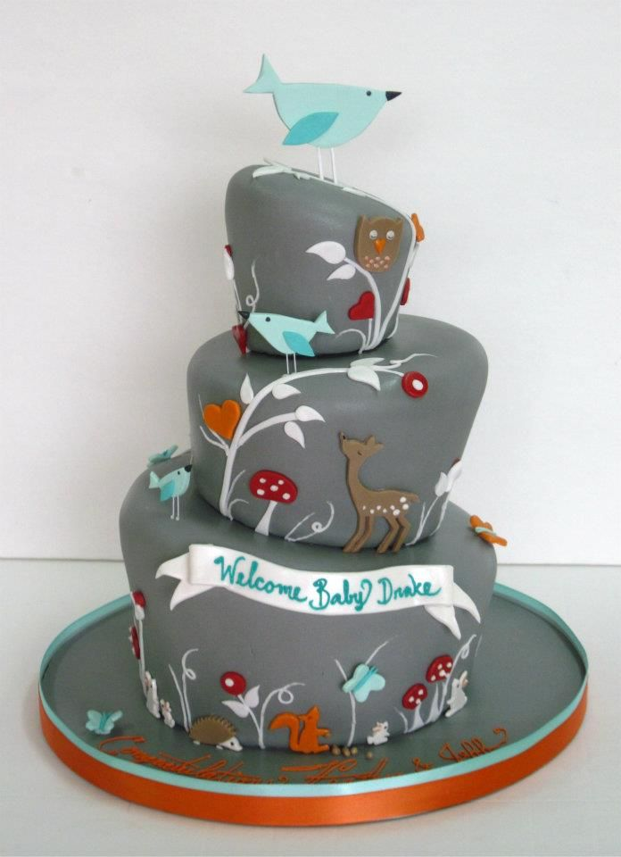 woodland baby shower cake cake decorating pinterest