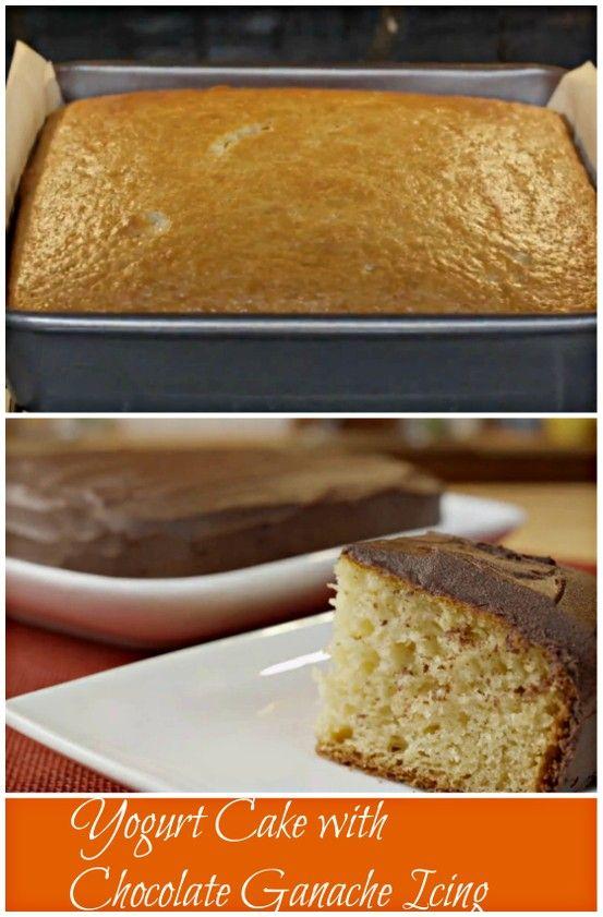 Yogurt Cake with Chocolate Ganache Icing.Super moist and rich cake ...
